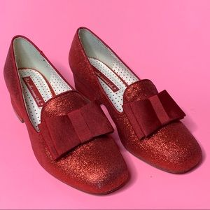 b.a.i.t. Shoes - Bait footwear Red Glitter Loafer